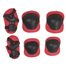6Pcs  Elbow Wrist Knee Pads and Helmet For Kids Skate Cyclin