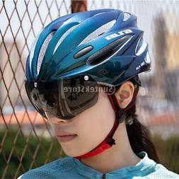 Adult Safety Cycling Bike Helmet with Removable Shield Goggl