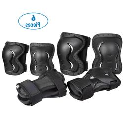 BMX Bike Knee Pads and Elbow Pads w/ Wrist Guards 6 PCS Prot