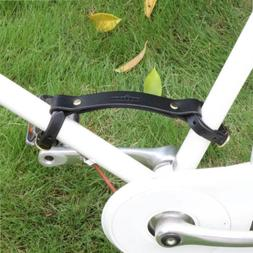 Tourbon Brown Leather Bicycle Frame Handle Bike Little Lifte