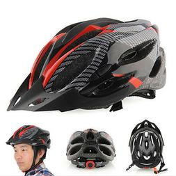 Cycling Bicycle Adult Men's Bike Helmet Red carbon color Wit