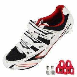 Venzo Cycling Bicycle Road Bike Shoes with Look Delta Cleats