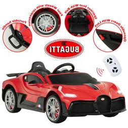 Kids Ride On Car Bugatti Divo 12V Motorized Vehicles With RC