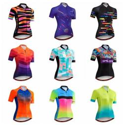 JPOJPO Women Cycling Jersey Breathable Bike Short Sleeve Bic