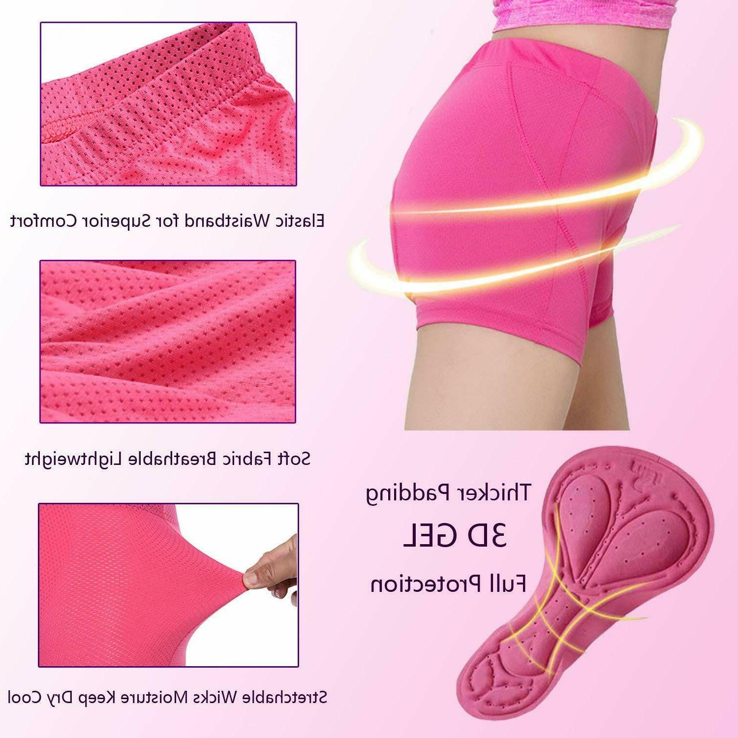 Women Bicycle Cycling 3D GEL Padded Underwear Comfortable
