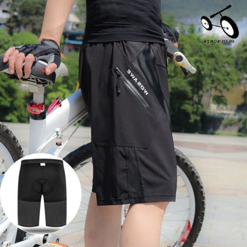 bike cycling baggy shorts breathable 4d padded