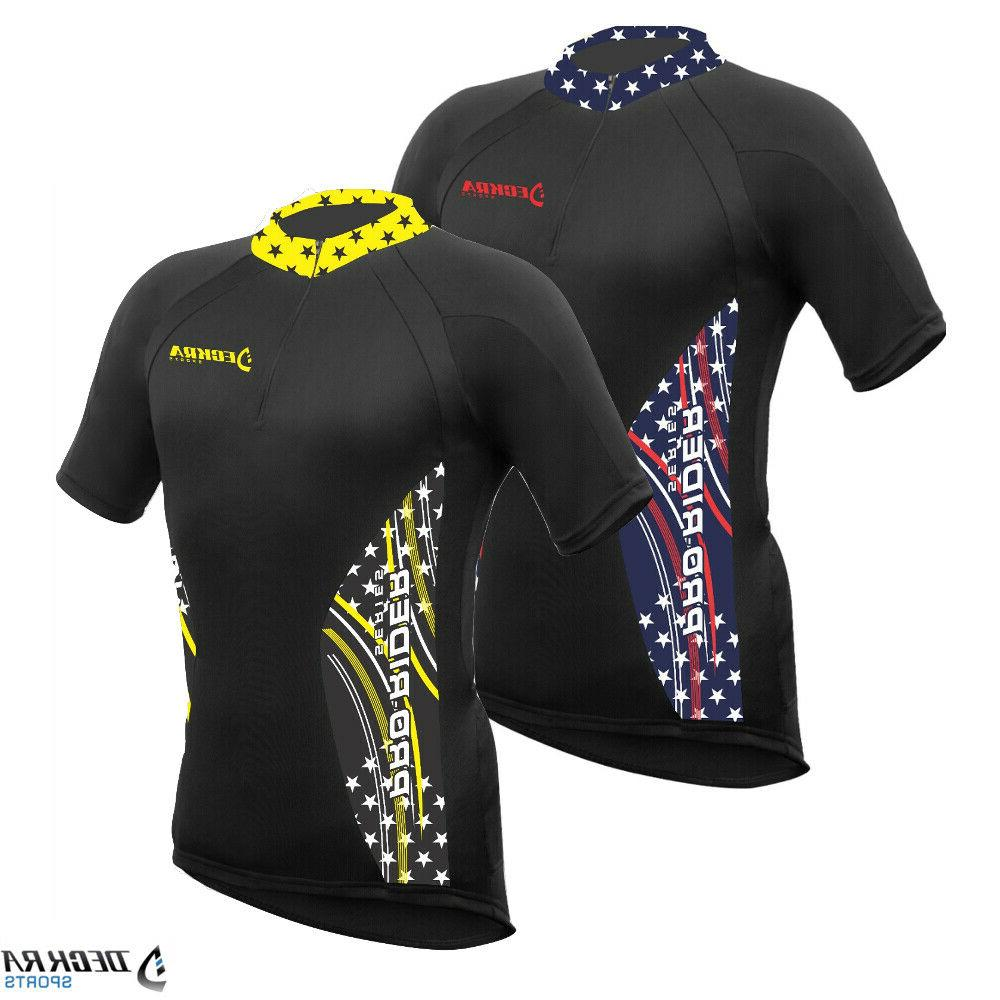 mens cycling jersey half sleeves breathable team