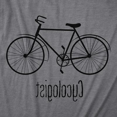 Mens Cycologist Biking Cyclist Novelty Graphic T