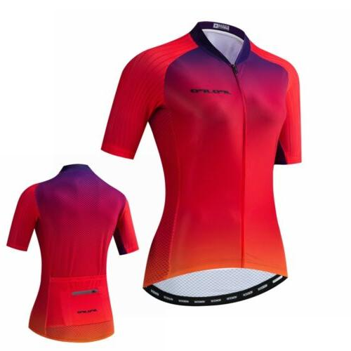 senior women cycling jersey bicycle wear short