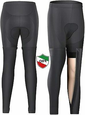 thermal cycling tights bike pants removable leggings