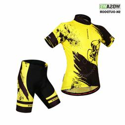 Men's Cycling Jersey Set MTB Shorts Bicycle Short Sleeve Out