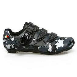 Santic Mens Davee Road Bike Cycling Shoes Black Camouflage S