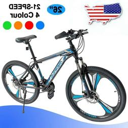 """Mountain Bike 26"""" Mag Wheels Front Suspension Bicycle 21 Spe"""
