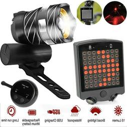 Rechargeable Remote Control Wireless Bike Laser LED Tail Lam