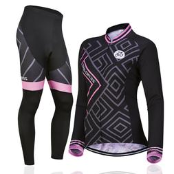 women s outdoor cycling jersey pants set